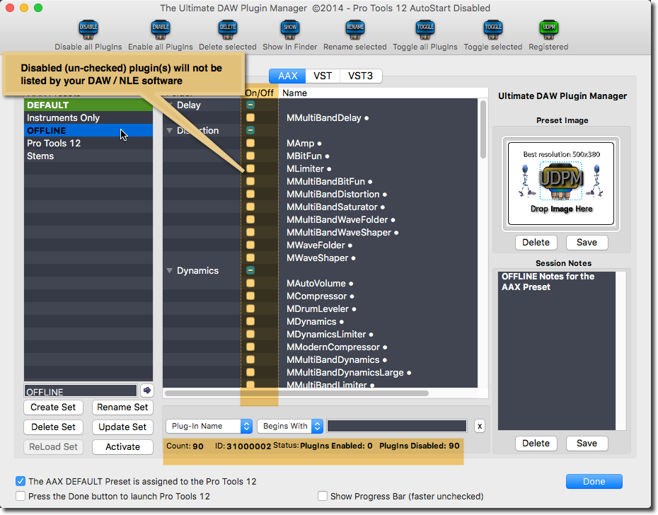 Ultimate DAW Plugin Manager for the OSX and Windows Platforms | UDPM