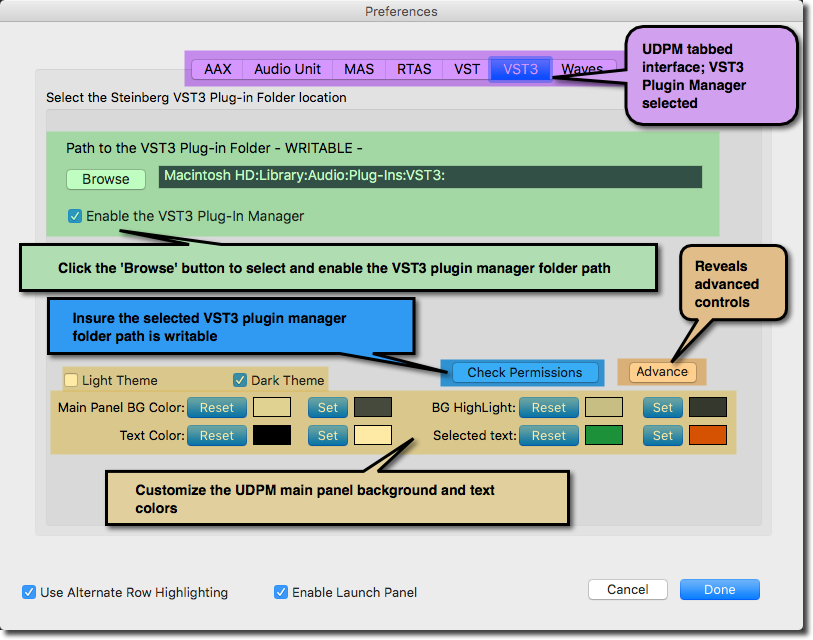 UDPM - for the OS X platform overview