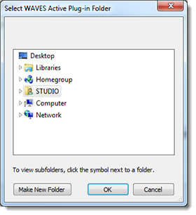 UDPM waves folder dialog box