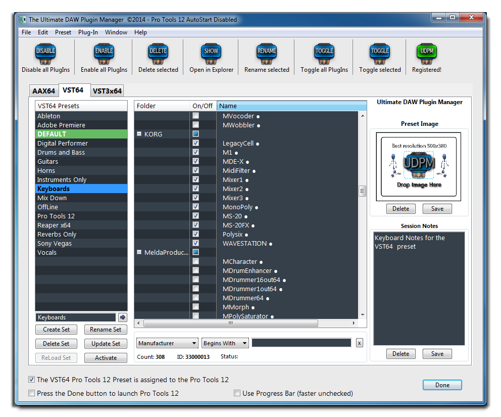 Ultimate DAW Plugin Manager for OS X and Windows platforms