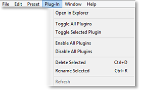 pc menu plugins